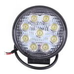 Vehicle Led Flood Light 27W 12V-24V DC Round