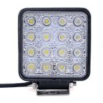 Vehicle Led Flood Light 48W 12V-24V DC Square
