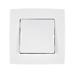 Switch 1 Button Cross Switch City White