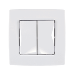 Switch 2 Button 1 Way Switch City White