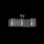 Lighting Pendant 3 Buld Metal with Crystal 955ANNA3