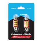 Σωληνωτή Festoon Led 41mm C5W Canbus 12V - 24V 12 SMD4014 (Ζεύγος)