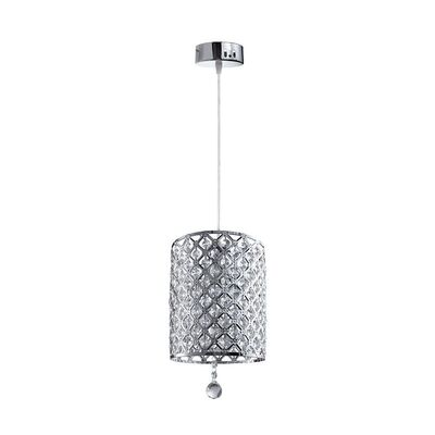 Lighting Pendant 1 Bulb Metal with Crystal 955BRITANY1
