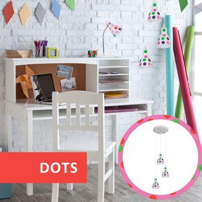Φωτιστικό Κρεμαστό 3φωτο Μεταλλικό Λευκό Χρωματιστό 955DOTS3P