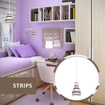 Φωτιστικό Κρεμαστό Μονόφωτο Μεταλλικό Λευκό 955STRIPS1P