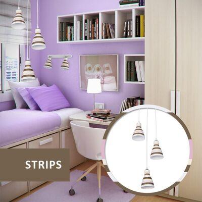 Φωτιστικό Κρεμαστό 3φωτο Μεταλλικό Λευκό 955STRIPS3P