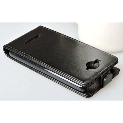 Plus Flip Cover Leather Case Alcatel C7 7041D Black