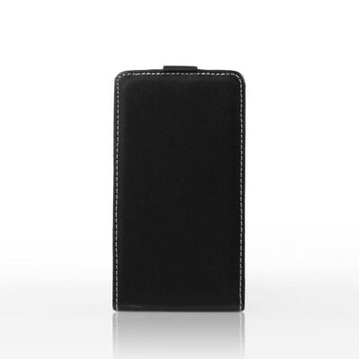 "Flip Cover Leather Case Alcatel One Touch Pixi 3 5"" Black"